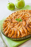 Apple pie with cinnamon and ground almonds