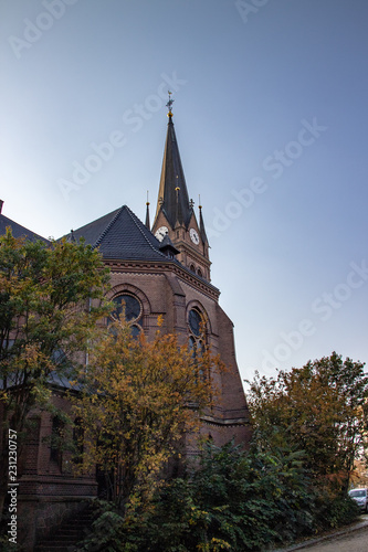 canvas print picture Historische Luther Kirche in Leipzig