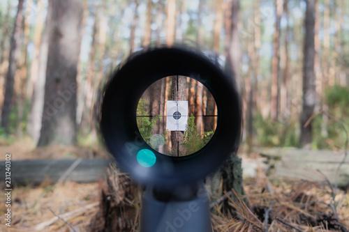Sniper gun scope view