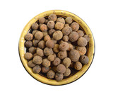 Allspice also called pimenta or Jamaica pimenta, or myrtle pepper. Isolated - 231243342