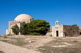 Mosque of Sultan Ibrahim inside the Fortezza of Rethymno, Crete island, Greece - 231244162