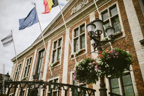 Classic buildings in Belgium