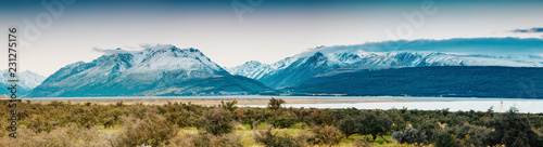 Sunset on the Summit of Mt. Cook and La Perouse in New Zealand