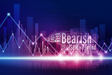 Virtual bear walking in the town of stock market as a Bearish trend is begin - 231295137