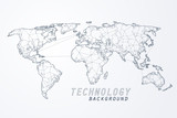 Abstract of world network, Edge and vertex of world connection - 231295190
