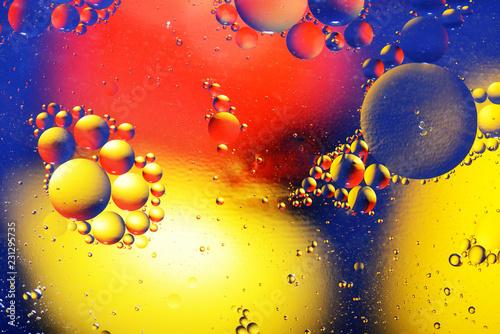 Leinwandbild Motiv Abstract light background with lot of color spheres
