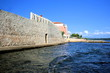 Leinwanddruck Bild - old wall in Novigrad Cittanova, Istria, Croatia