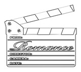 Romance Clapperboard Outline - 231299913