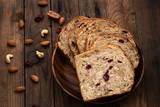 Fruit Loaf or bread with raisins also known as Bara Brith