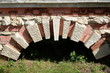 "Fragment of a stone bridge in the natural-historical park ""Kuzminki-Lyublino"""