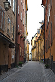 Gamla stan or old street of stockholm