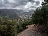 Mountain side town, Mesa Mouliana, NE Crete