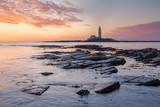 St. Mary's Lighthouse during Sunrise, Northumberland, England, Great Britain - 231359700