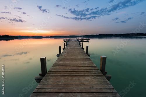 Acrylglas Pier Bavarian Sunrise