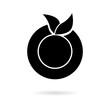 Black Organic logo. Orange logo. Orange icon - 231362347