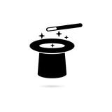 Black Magician Hat icon or logo - 231362342