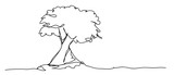 continuous line drawing of nature tree environmental - 231365391