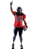 one american football player man isolated on white background - 231378904