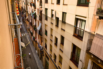 Backstreet of Barcelona, urban background © e_polischuk