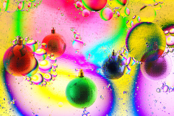 varicolored balls ,christmas toys