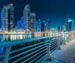Leinwanddruck Bild - Dubai Marina bay view from Palm Jumeirah, UAE