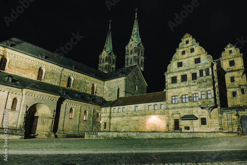 Bamberg, Germany, castle at night