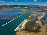 Luftaufnahme Neretva Delta, Adria, Kroatien - 231402303