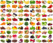 Collection of healthy food on white background - 231413722