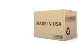 Box with MADE IN USA caption. 3D animation - 231425945