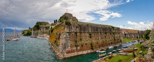 old fortress at kerkyra town corfu greece