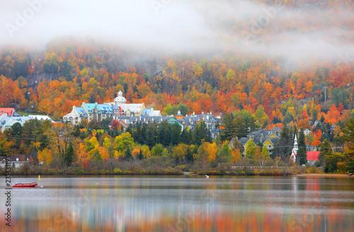 Mont Tremblant village in autumn time