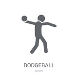 dodgeball icon. Trendy dodgeball logo concept on white background from Sport collection