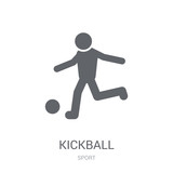 kickball icon. Trendy kickball logo concept on white background from Sport collection