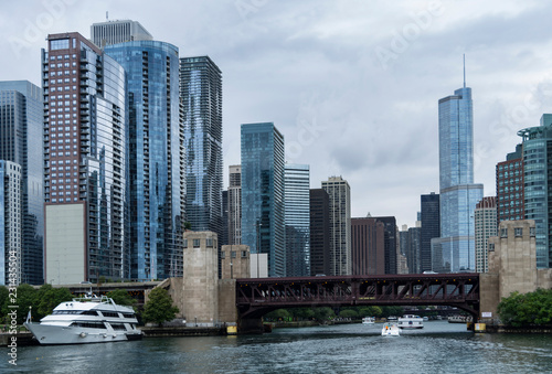 Chicago River Skyscrapers