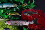 Artificial aquarium with artificial fish that are good for fishing for predator fish    - 231437756