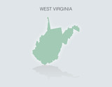 Map of the State of West Virginia in the United States