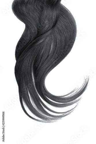 Black natural hair isolated on a white background