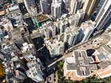 Aerial view of Kowloon in Hong Kong - 231445375