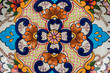 mexican designs talavera poblana colorful backgrounds with graphics of mexico flowers pigeons porcelain ceramics embossed traditional crafts culture folklor - 231445968