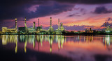 Oil refinery plant and gas industrial factory