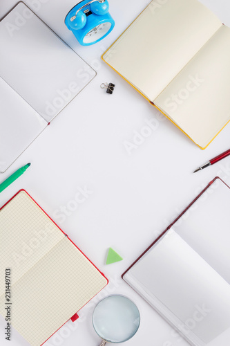 school accessories on white  background - 231449703