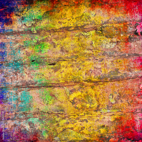 abstract grunge background in rainbow colors - 231451795