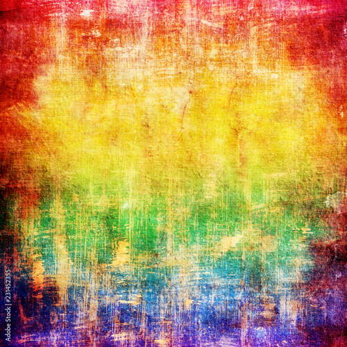 abstract grunge background in rainbow colors - 231452355