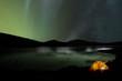 Leinwanddruck Bild - Zelt vor Nordlicht
