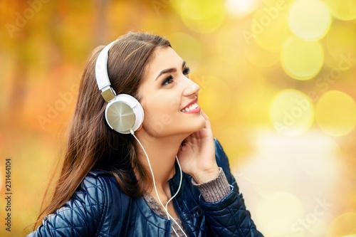 listening to music in headphones