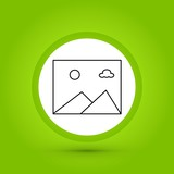 vector gallery icon in creative design with elements for mobile and web applictions. modern trend infographic,logo and pictogram. - 231475536