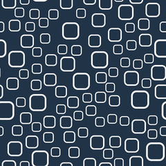 Abstract seamless pattern. Simple forms, a harmonious combination of gray-blue and white. © Лия Никифорова