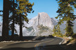 Leinwanddruck Bild - Glacier Point Road with Half Dome, Yosemite National Park, California, USA