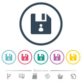 File owner flat color icons in round outlines - 231487356