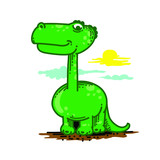 Dragon Dinosaur Monster Vector Illustration Clipart